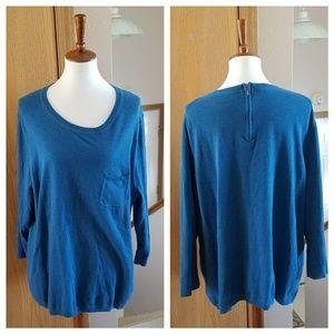 Talbots Blue Knit Sweater